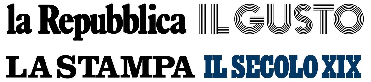 La Repubblica, Il Gusto, La Stampa, Il Secolo XIX